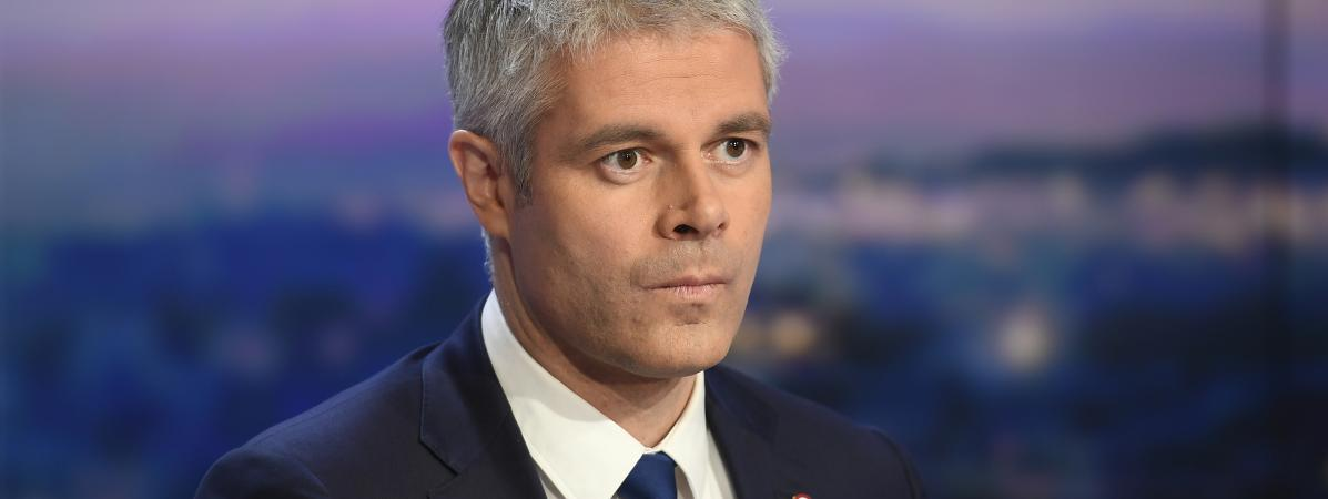 Laurent Wauquiez sur le plateau de TF1, le 11 décembre 2017, à Boulogne-Billancourt (Hauts-de-Seine).