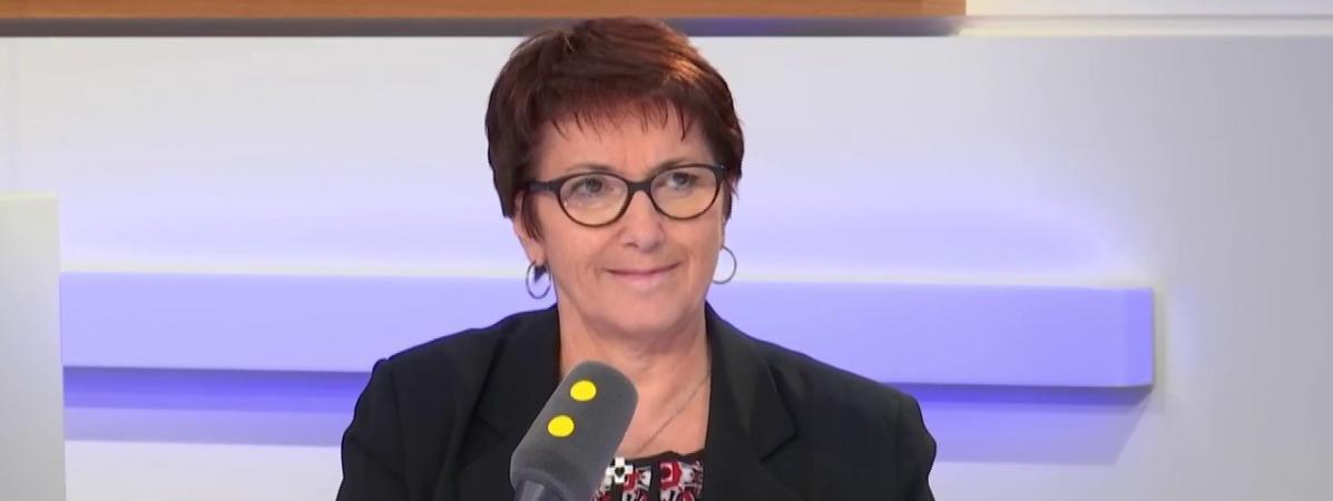 Christiane Lambert, présidente de la FNSEA, le 3 décembre 2018 sur franceinfo.