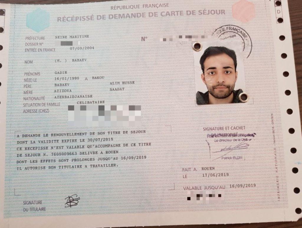 Gadir, jeune Azéri privé de papiers depuis février, obtient gain de cause