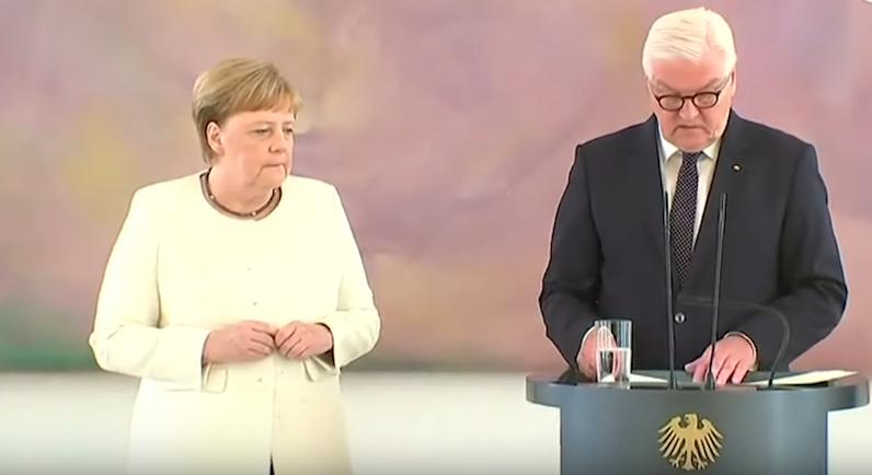 Allemagne : Angela Merkel de nouveau prise de tremblements lors d'une cérémonie à Berlin