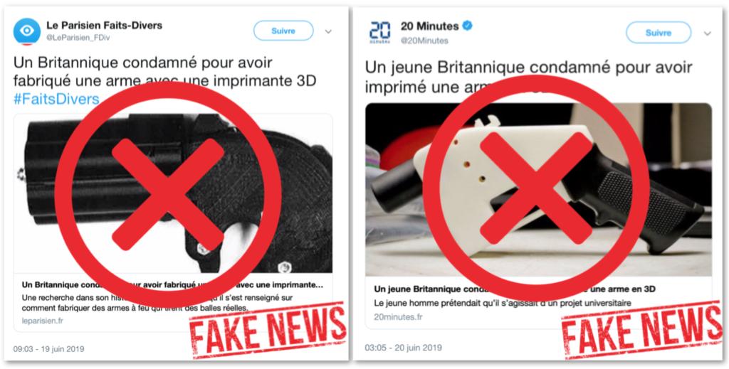 Non, un «Britannique» n'a pas été condamné pour avoir fabriqué «une» arme avec une imprimante 3D