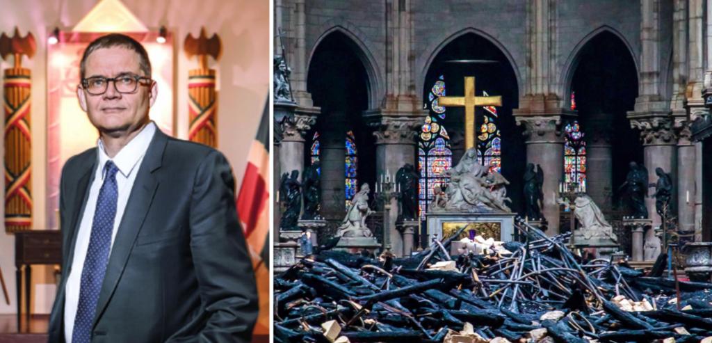 Pour Jean-Philippe Hubsch, grand maître du Grand Orient de France : Notre-Dame n'est pas un lieu de culte