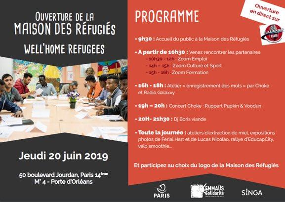 Paris : ouverture d'une « maison des réfugiés », 500.000 euros de financement par an de la part de la mairie