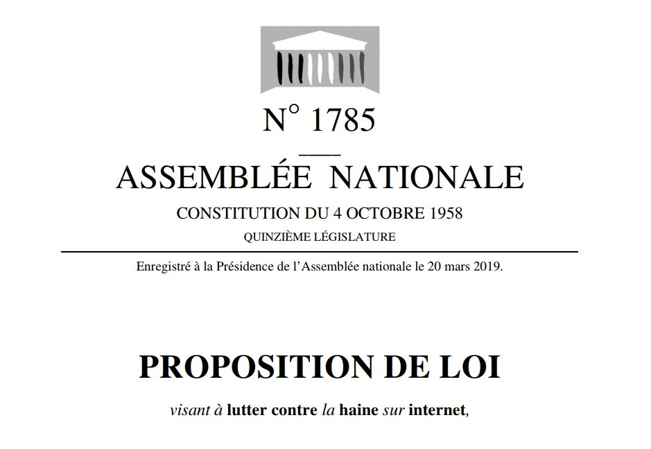 L'examen de la proposition de loi sur la lutte « contre la haine sur internet » débute aujourd'hui à l'Assemblée nationale (MàJ)