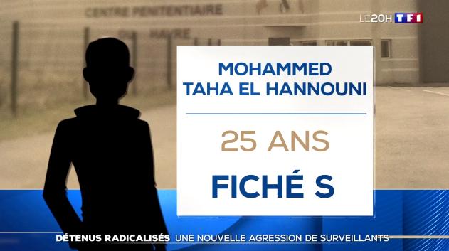 Le Havre (76) : Mohammed Taha El Hannouni condamné pour terrorisme agresse deux surveillants en criant «Allah Akbar» (MàJ : Ils sont sortis de l'hôpital)