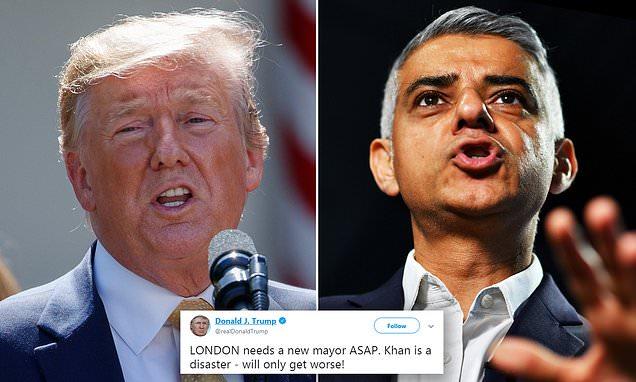 Trump estime que Londres a besoin d'un nouveau maire : «Sadiq Khan est un désastre, cela ne va qu'empirer !»