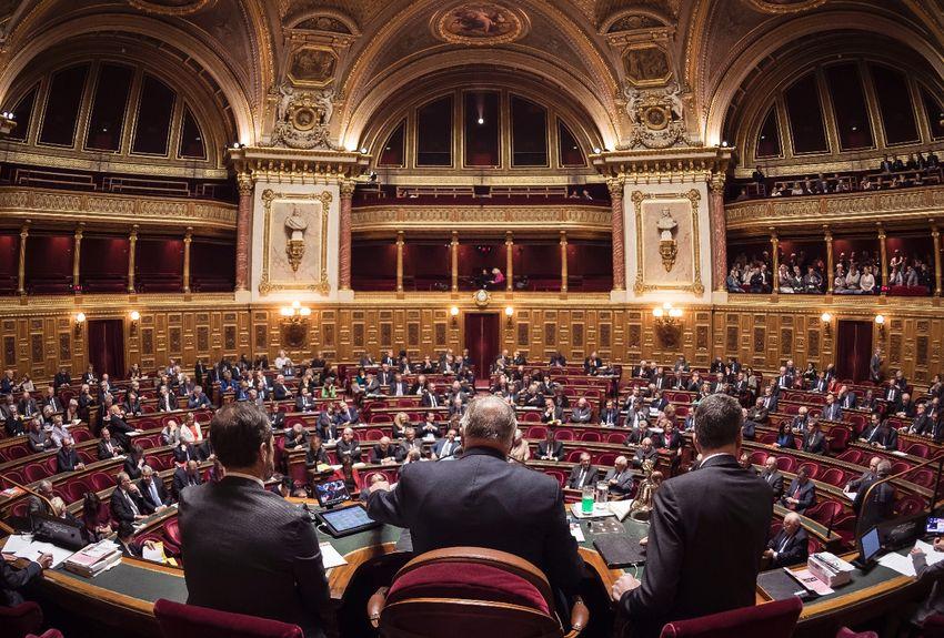 Une session du Sénat au Palais du Luxembourg.
