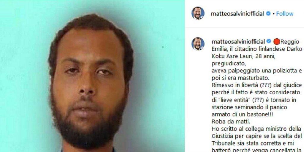 Italie : un Finlandais arrêté pour agression sexuelle sur une policière est immédiatement libéré par le juge, colère de Salvini
