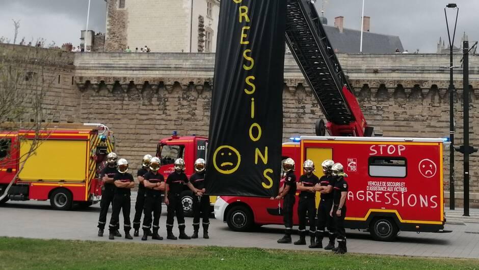 Nantes (44) : «Depuis le 1er juillet, un pompier se fait agresser chaque jour en Loire-Atlantique (…) C'est énorme !»