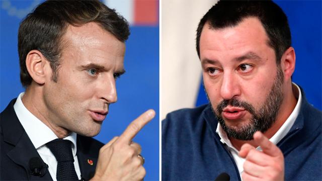 «Macron s'est fait siffler pendant la Fête Nationale», ironise Matteo Salvini