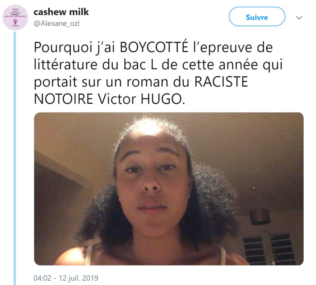 Une bachelière aurait boycotté son épreuve de littérature parce que Victor Hugo était «raciste», elle lance une pétition