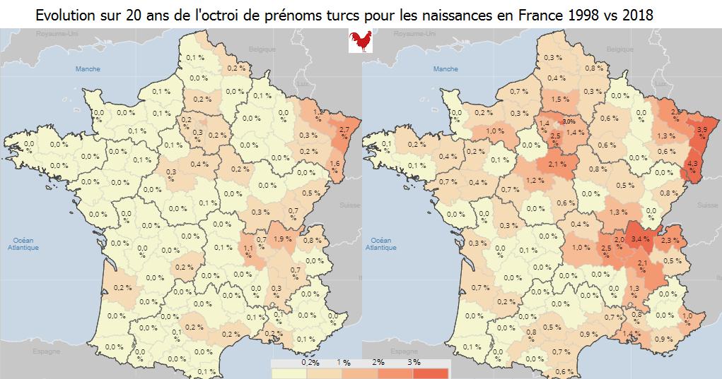 Baromètre 2019 du prénom musulman : 21,6% de naissances en France l'an passé, 53,4% dans le 93 (màj : zoom sur les prénoms turcs)