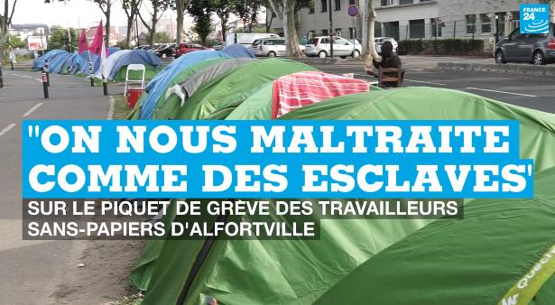 Alfortville (94) : «on nous maltraite comme des esclaves» dénoncent les travailleurs sans-papiers de Chronopost