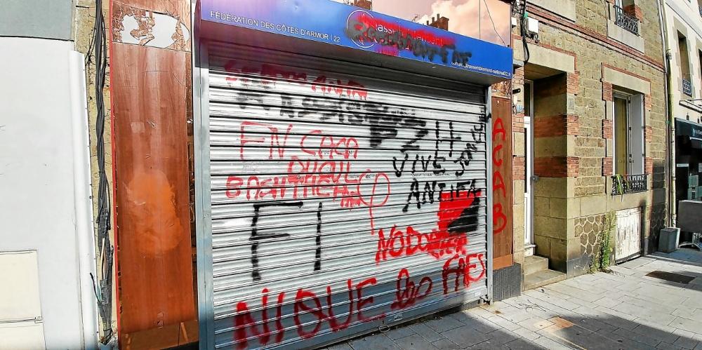 Saint-Brieuc (22) : la permanence du Rassemblement national vandalisée