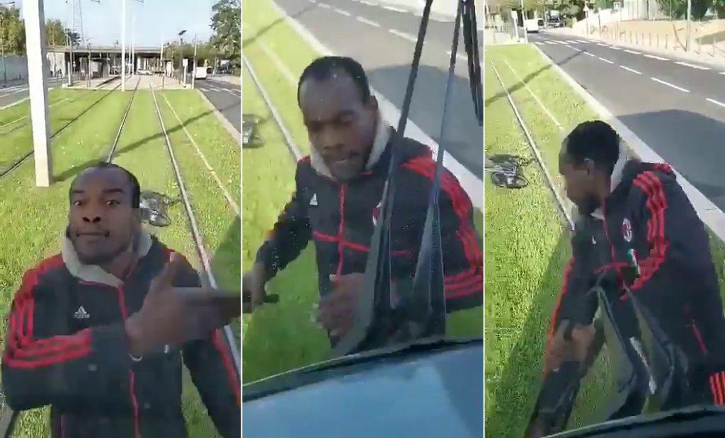 Villeneuve-la-Garenne (92) : un cycliste vandalise un tramway