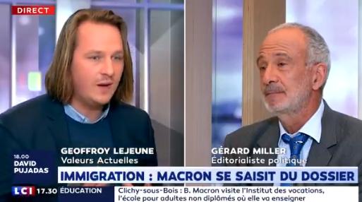 Geoffroy Lejeune : «Il y a des endroits du territoire où la culture française n'est plus majoritaire ou n'existe plus.»
