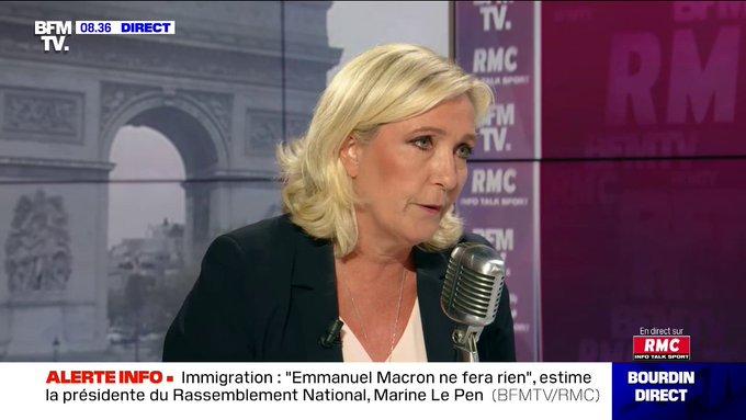Marine Le Pen demande un référendum sur le droit du sol et le regroupement familial