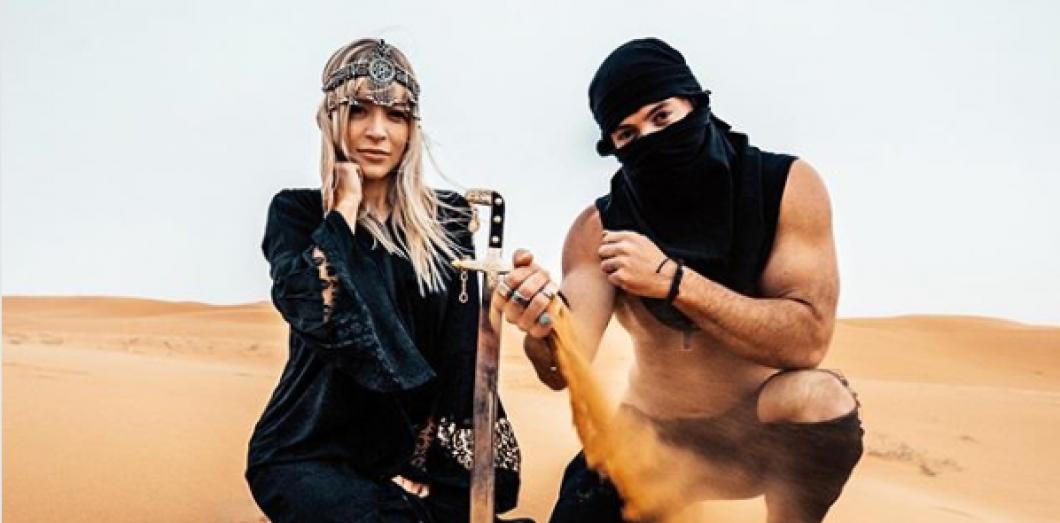 Aggie Lal lors de son tour sponsorisé en Arabie saoudite | Gateway KSA via Instagram