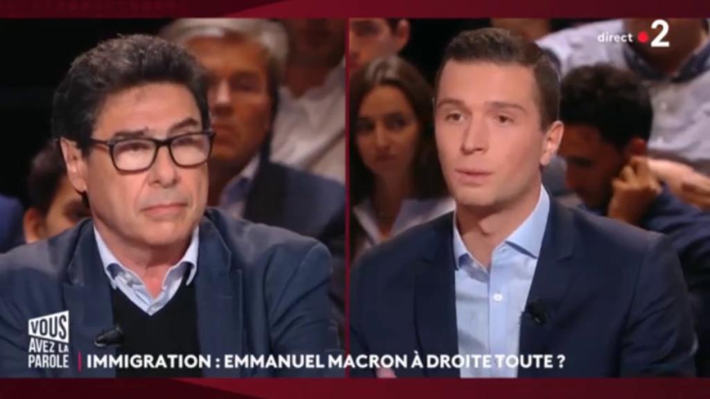 Débat sur l'immigration : échange tendu entre Jordan Bardella et les autres invités sur le plateau de la nouvelle émission de France 2