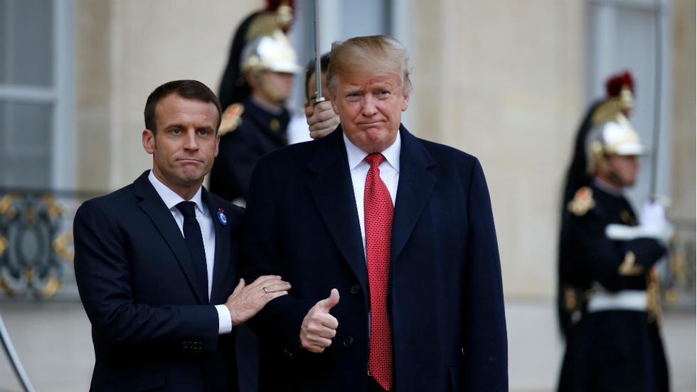 Punchline de Trump en direction de Macron