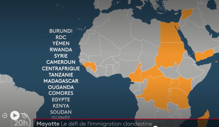 Mayotte : la France à portée de bateaux pour les migrants venus de toute l'Afrique et même de la péninsule arabique
