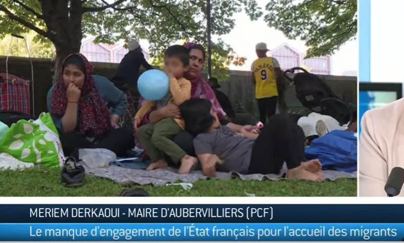 Aubervilliers (93) : la maire Meriem Derkaoui (PCF) dénonce l'inaction de l'Etat au sujet des migrants
