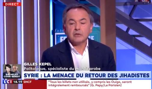 Gilles Kepel : «La perspective du retour des djihadistes est particulièrement inquiétante. Nos prisons sont saturées, ça va être extrêmement difficile à gérer.»
