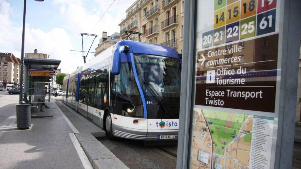 L'ancien tramway de Caen, en 2015.