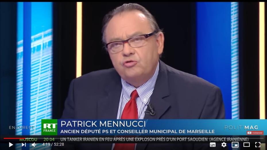 La direction du RN est composée de «fachos» et de «nazis» selon Patrick Mennucci (PS)