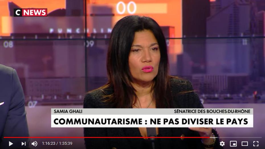 Quand la sénatrice Samia Ghali compare le voile islamique aux cheveux bleus