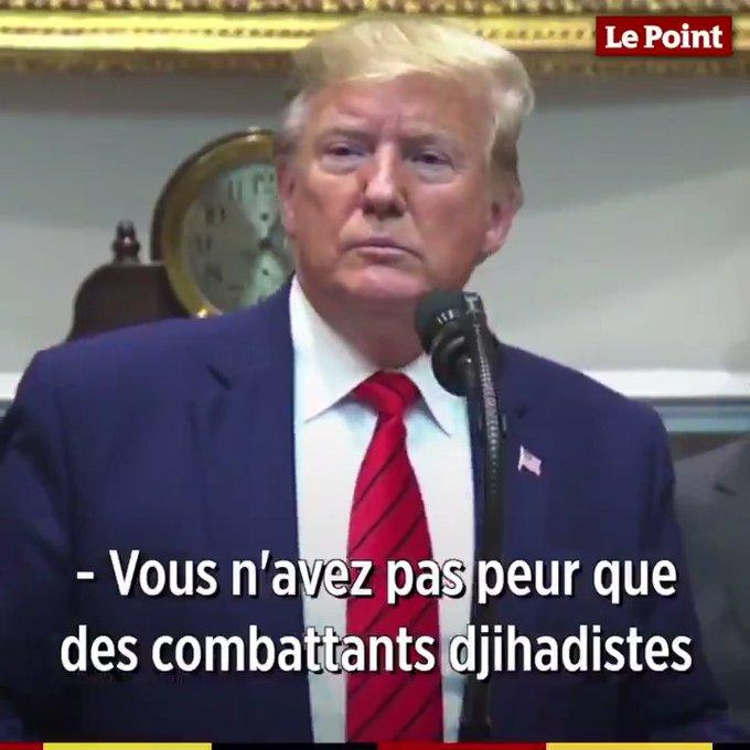Trump menace la France et l'Allemagne du retour des jihadistes de Daesh s'ils ne les rapatrient pas (Màj)