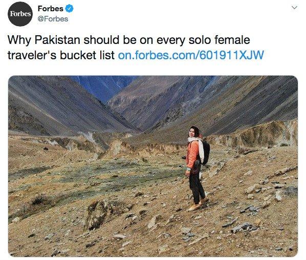 Quand le magazine Forbes encourage les femmes à voyager seules au Pakistan