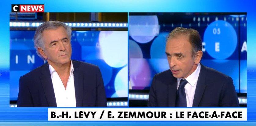 Zemmour face à BHL : «La France est en danger de mort. Ce qui m'intéresse et qui m'émeut, c'est uniquement le sort du peuple français»