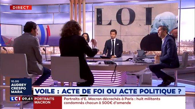 Olivier Galzi (LCI) compare le voile islamique à un uniforme SS (MàJ : il justifie ses propos)