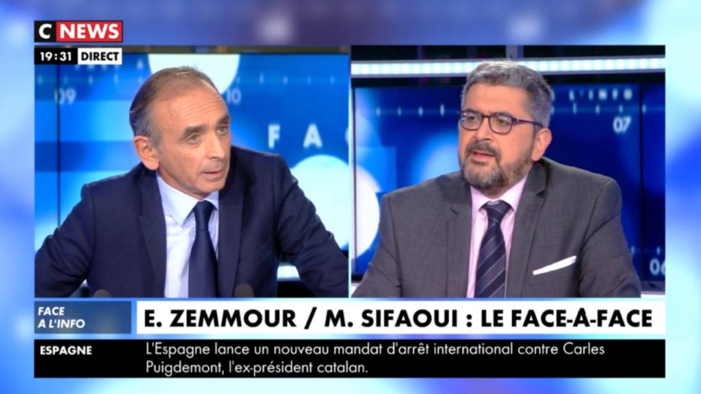Zemmour/Sifaoui : le face-à-face