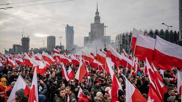 Grande Marche de l'indépendance à Varsovie