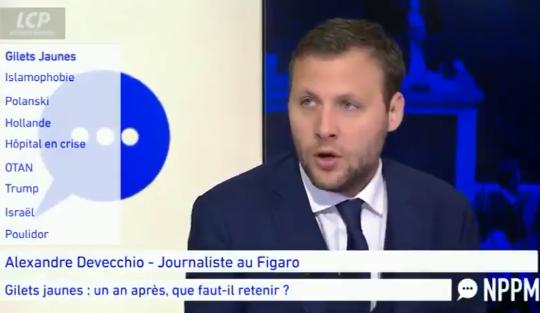 Alexandre Devecchio : «Les GJ de 2018 ne sont pas les mêmes que ceux de 2019, (…) ce mouvement de la France périphérique a été phagocyté par l'extrême gauche.»