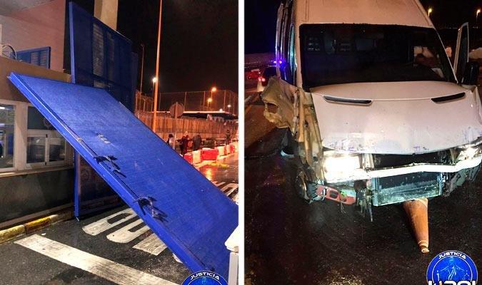Ceuta (Espagne) : Un fourgon immatriculé en région parisienne avec une cinquantaine de migrants à bord force un poste frontière