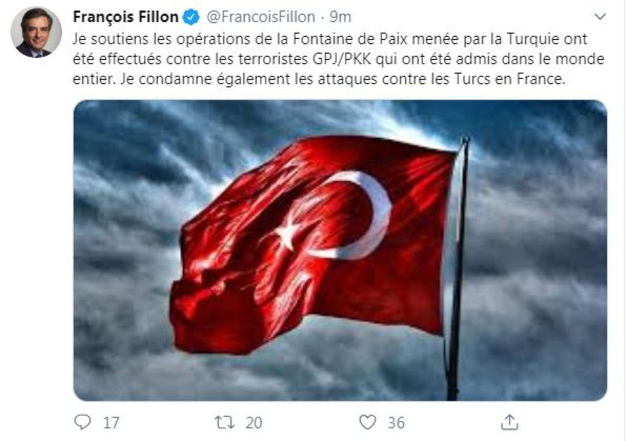 Le compte Twitter de Fillon piraté par des hackers turcs