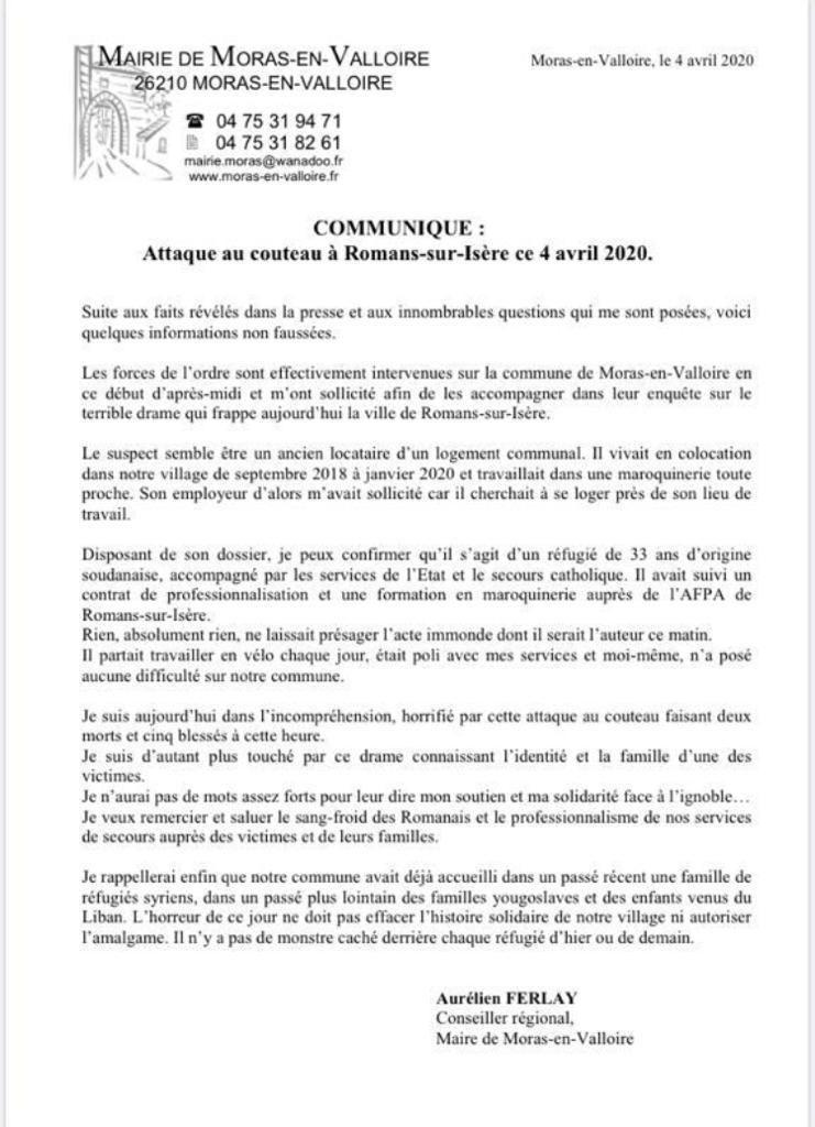 Attaque de Romans-sur-Isère : ce que l\'on sait de l\'assaillant et des possibles raisons de son geste
