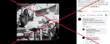 Cette photo montre un marin libérant un esclave de ses fers, pas un colon lui coupant les pieds