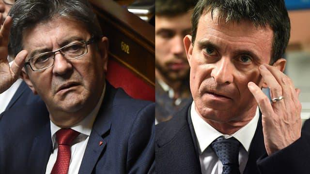 """Valls appelle à ne pas voter pour une liste d'union avec LFI, Mélenchon dénonce du """"post-franquisme"""""""