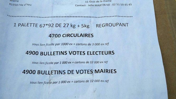 À l'Ile-d'Yeu, les déboires des documents de la campagne du Rassemblement national